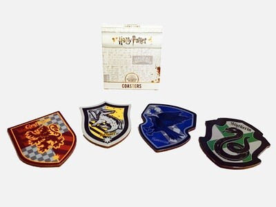 Harry Potter House Sigil Shield Vintage Coasters