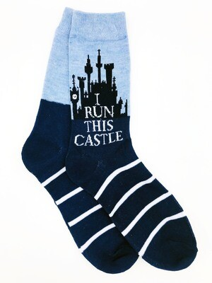 I Run This Castle Disney Crew Socks