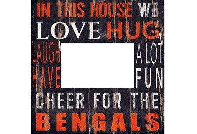 """In This House Cincinnati Bengals NFL 4 x 6"""" Picture Frame"""