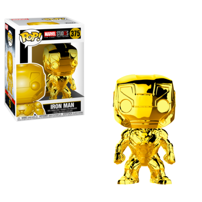 Iron Man (Gold Chrome) Marvel Studios the First Ten Years Marvel Funko Pop 375