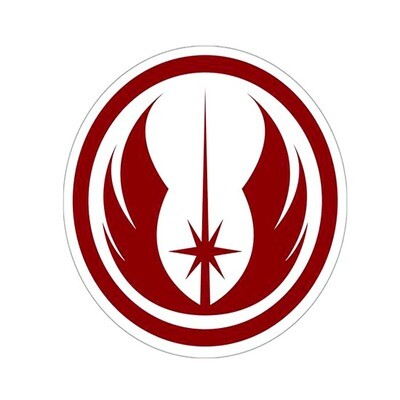 Jedi Order Logo Symbol Star Wars 4 x 4 inch Decal Sticker Smuggler's Bounty Exclusive