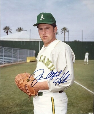 "Jim ""Catfish"" Hunter Oakland Athletics MLB Autographed 8x10 Photo"