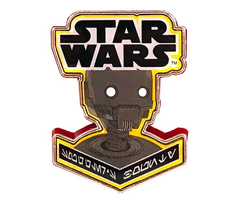 K2SO Droid Star Wars Rogue One Aurebesh Writing Enamel Pin Smuggler's Bounty Exclusive
