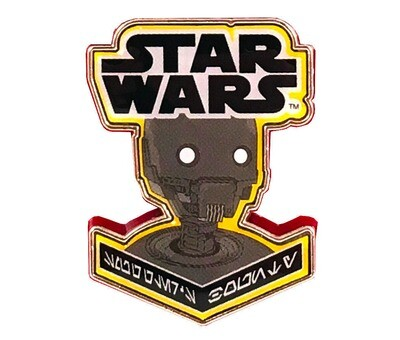 K2SO Droid Star Wars Rogue One Aurebesh Writing Enamel Pin Smuggler's Bounty Exclusive
