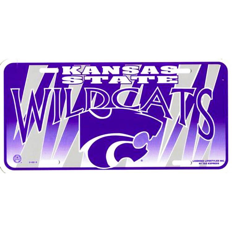 Kansas State Wildcats Logo Graphic License Plate