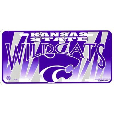 Kansas State Wildcats Logo Graphic License Plate