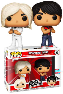 Katayanagi Twins Scott Pilgrim vs. The World Funko Pop Movies 2-Pack Fall Convention Exclusive Limited Edition