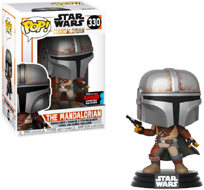 The Mandalorian (Pistol) Star Wars The Mandalorian Funko Pop 330 Fall Convention Limited Edition Funko Shop Exclusive