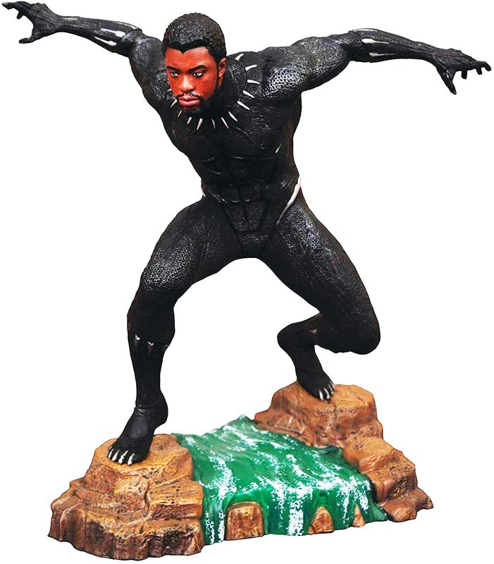 Black Panther Unmasked Diamond Select Marvel Movie Gallery PVC Diorama Statue