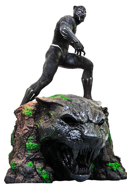Black Panther Marvel Movie Milestones Diamond Select Resin Statue Limited Edition