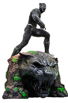 Black Panther Marvel Movie Milestones Diamond Select Resin Statue Limited Edition