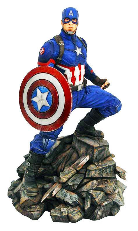 Captain America Marvel Avengers Endgame Diamond Select Marvel Movie Premier Collection Resin Statue