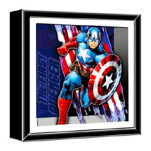 Captain America The First Avenger Marvel Wood Shadow Box