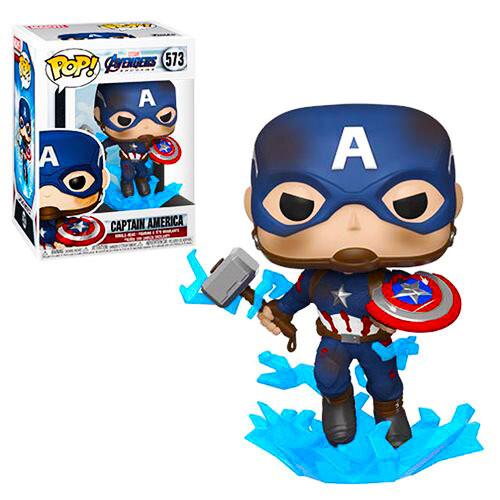 Captain America (with Mjolnir and Broken Shield) Avengers Endgame Marvel Funko Pop 573