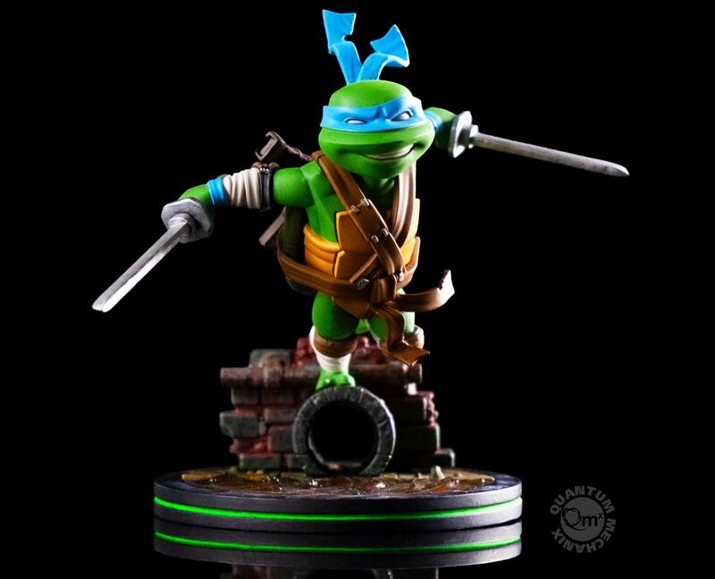 Leonardo Teenage Mutant Ninja Turtles Nickelodeon Quantum Mechanix Qmx Q-Fig