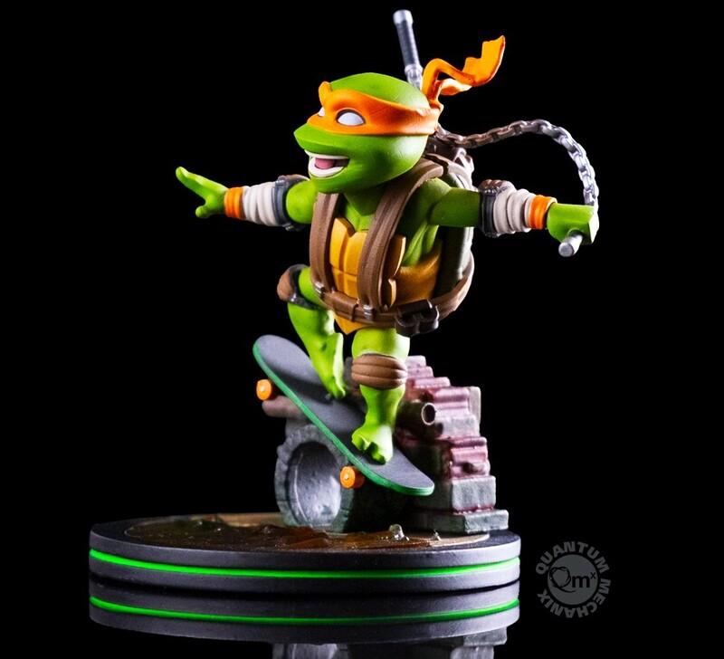 Michelangelo Teenage Mutant Ninja Turtles Nickelodeon Quantum Mechanix Qmx Q-Fig