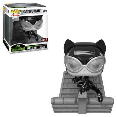 Catwoman (Black & White) Jim Lee DC Super-Villains Collection Funko Pop Heroes Deluxe 269 Gamestop Exclusive