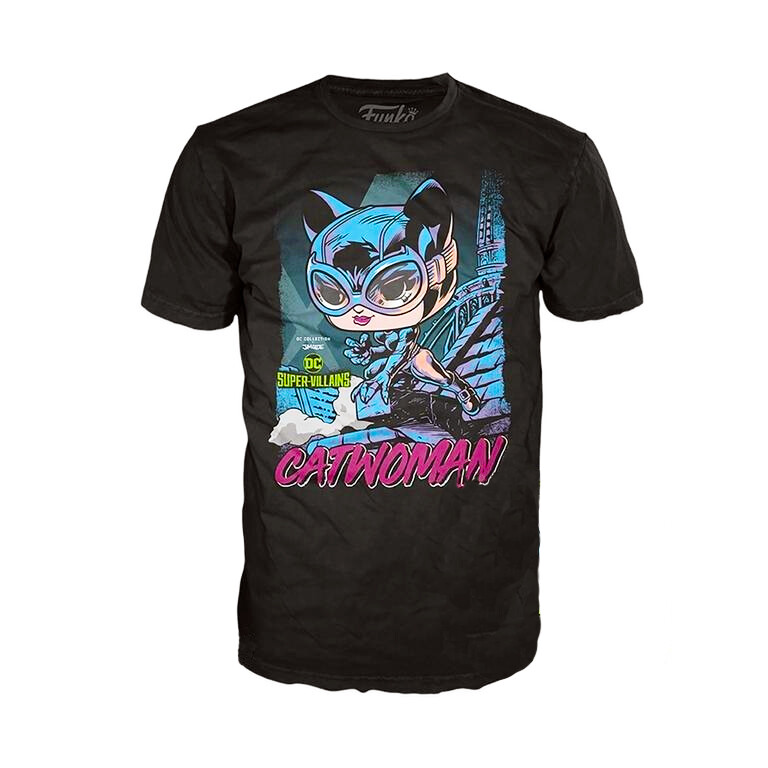 Catwoman Jim Lee DC Super-Villains Collection Funko Pop Tees T-Shirt
