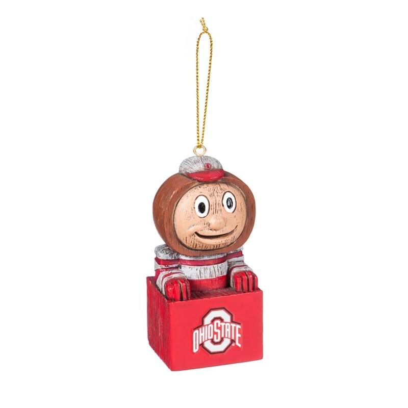 Ohio State Buckeyes Mascot NCAA Christmas Tree Holiday Ornament