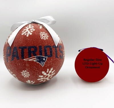 New England Patriots 6-inch LED Light-up Ball NFL Christmas Tree Holiday Ornament (Red)