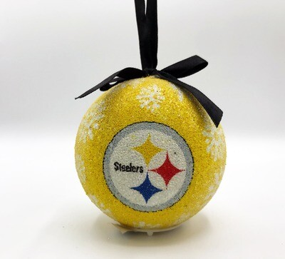 Pittsburgh Steelers LED Light-up Ball NFL Christmas Tree Holiday Ornament (Yellow)