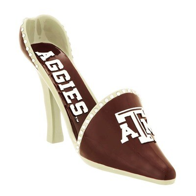 Texas A&M Aggies Decorative High Heel Shoe Wine Bottle Holder (PRE-ORDER)