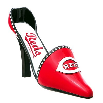 Cincinnati Reds Decorative High Heel Shoe Wine Bottle Holder