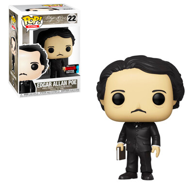 Edgar Allan Poe with Book Funko Pop Icons 22 Books A Million Fall Convention Exclusive Limited Edition