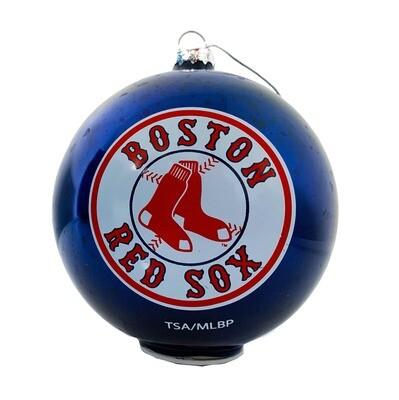 Boston Red Sox Stargazing Light-Up Glass Ball MLB Christmas Tree Holiday Ornament