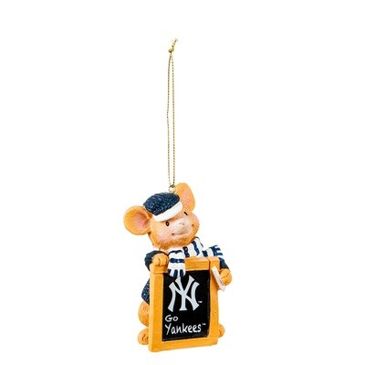 New York Yankees MLB Holiday Mouse Christmas Tree Ornament