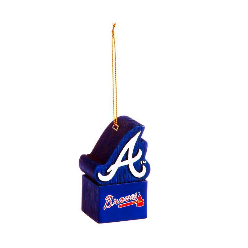 Atlanta Braves Logo MLB Christmas Tree Holiday Ornament