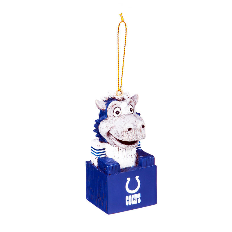 Indianapolis Colts Mascot NFL Christmas Tree Holiday Ornament