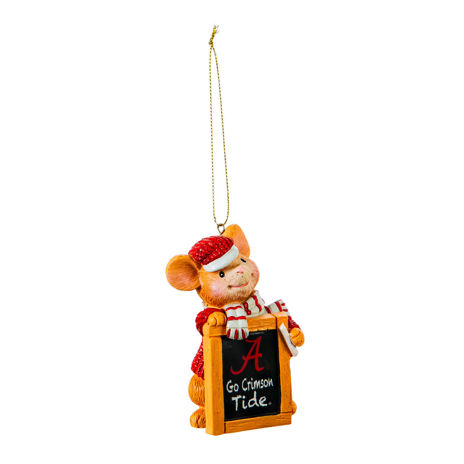 Alabama Crimson Tide NCAA Holiday Mouse Christmas Tree Ornament