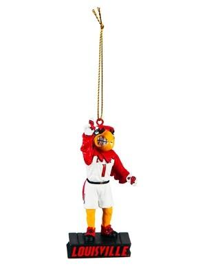 Louisville Cardinals Mascot Statue NCAA Christmas Tree Holiday Ornament