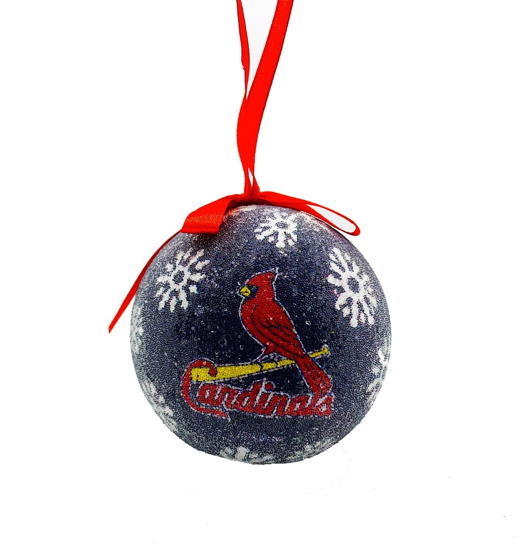 St. Louis Cardinals LED Light-up Ball MLB Christmas Tree Holiday Ornament (Navy)