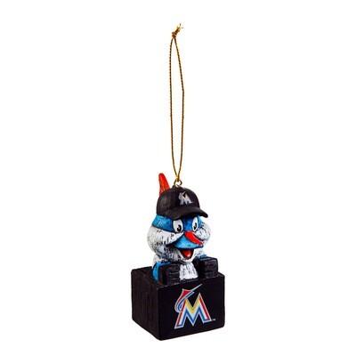 Miami Marlins Mascot MLB Christmas Tree Holiday Ornament