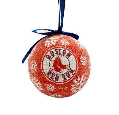 Boston Red Sox LED Light-up Ball MLB Christmas Tree Holiday Ornament (Red)