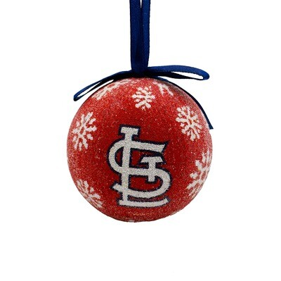 St. Louis Cardinals LED Light-up Ball MLB Christmas Tree Holiday Ornament (Red)