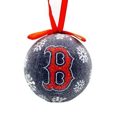 Boston Red Sox LED Light-up Ball MLB Christmas Tree Holiday Ornament (Navy)