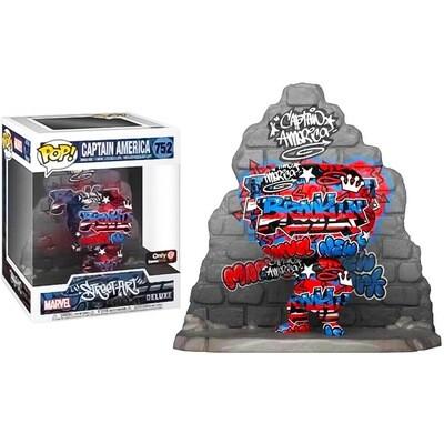 """Captain America (Street Art)(Brooklyn) Marvel Funko """"Street Art Collection"""" Pop Deluxe 752 Gamestop Exclusive"""