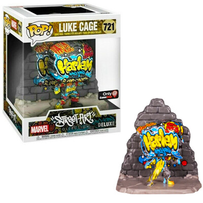 """Luke Cage (Street Art)(Harlem) Marvel Funko """"Street Art Collection"""" Pop Deluxe 721 Gamestop Exclusive"""