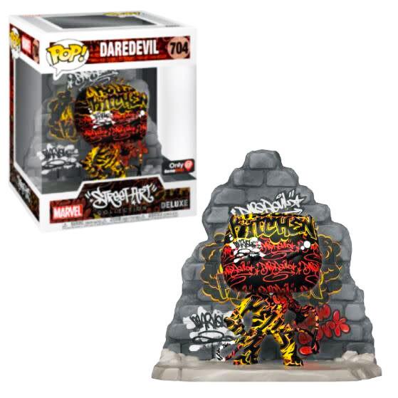 """Daredevil (Street Art)(Hell's Kitchen) Marvel Funko """"Street Art Collection"""" Pop Deluxe 704 Gamestop Exclusive"""