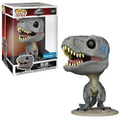 Blue (10-inch) Jurassic World Funko Pop Movies 1077 Jumbo Walmart Exclusive