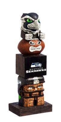 Seattle Seahawks NFL Garden Statue Mascot Tiki Tiki Totem