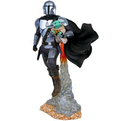Mandalorian and Child Star Wars The Mandalorian Diamond Select Gentle Giant Milestones Statue (PRE-ORDER)