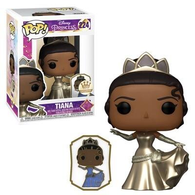 Tiana (Gold) with Pin Disney Funko Disney Princess Ultimate Princess Celebration 224 Funko Shop Exclusive