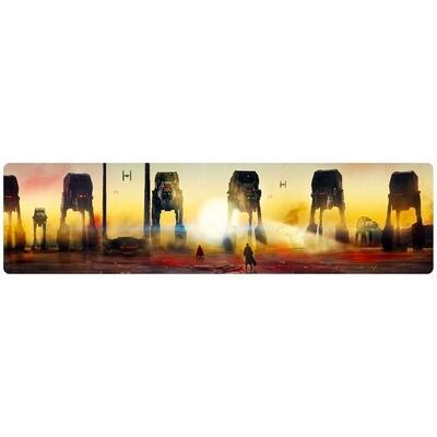 Crait Showdown Star Wars The Last Jedi Lithograph Art Print by Rich Davies
