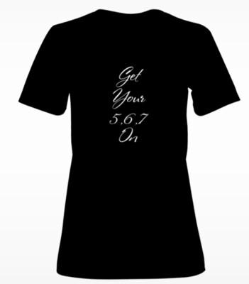 Ladies 5-6-7 Dance T-Shirt. (Black)