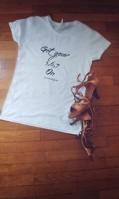 Ladies 5-6-7 Dance T-Shirt (white)