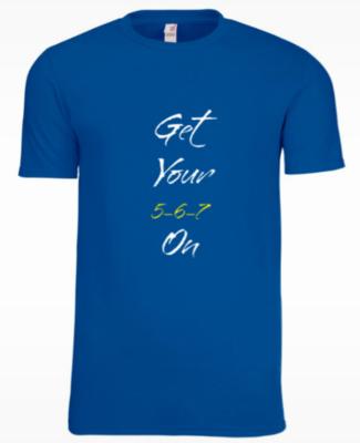 Mens 5-6-7 Dance T-shirt (Royal Blue)